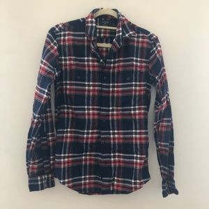 J. Crew Plaid Flannel Button Down XS C65